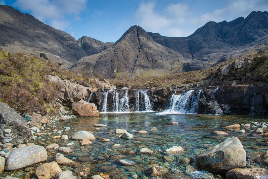 The Fairy pools of Skye on our private tour