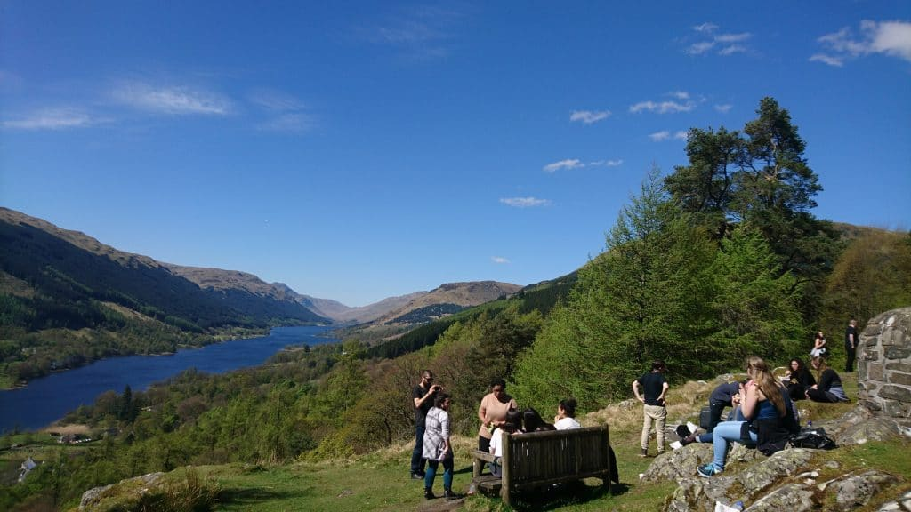 Lunch in the Scottish Highlands