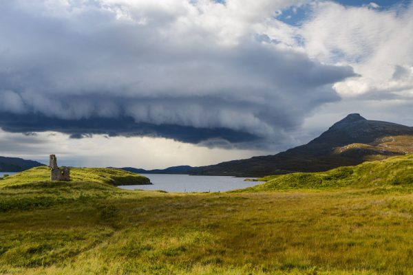 Wild sky far north of Scotland
